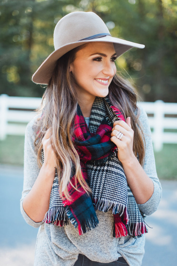 Plaid Scarf for the Holidays 5