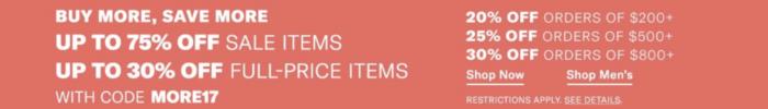 Shopbop holiday sale