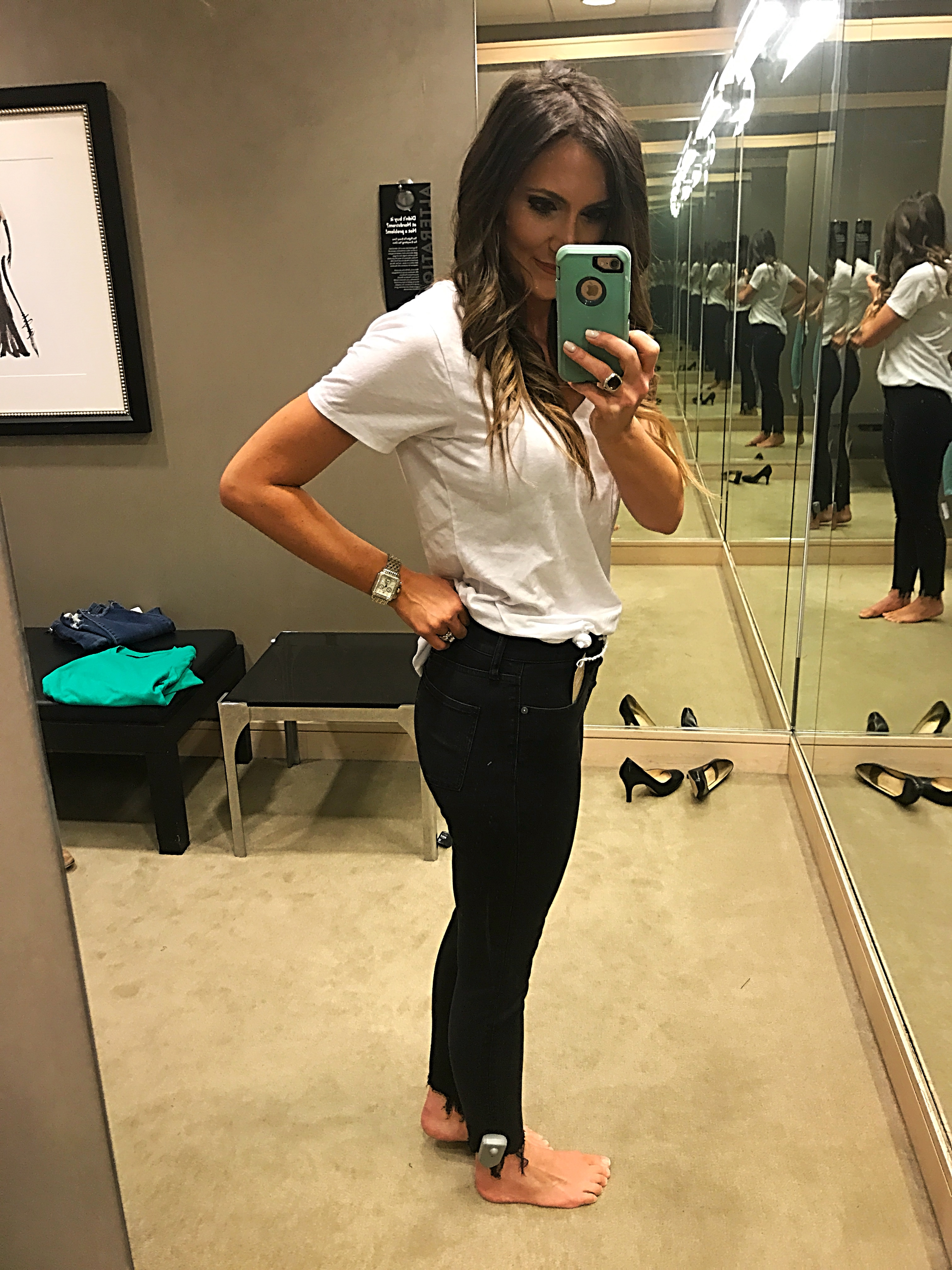 madewell 9'' black skinny jean fit review