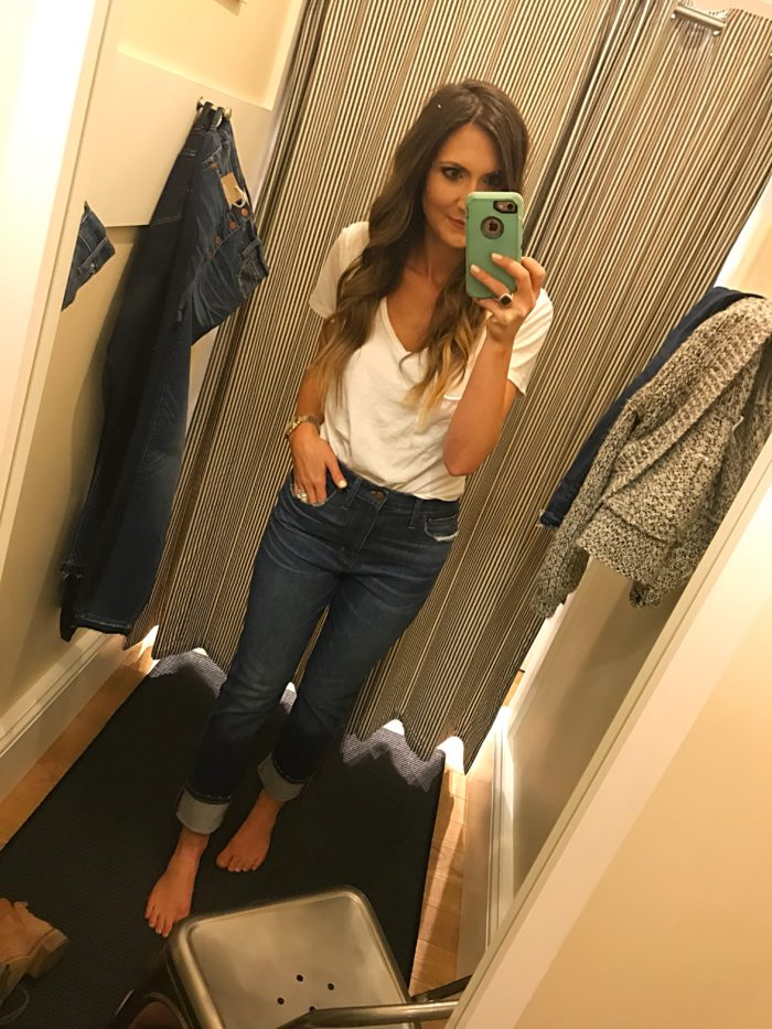 Madewell high rise slim boy jean fit review