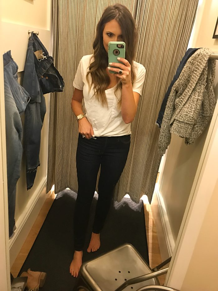 "madewell 10"" high rise dark skinny fit review"