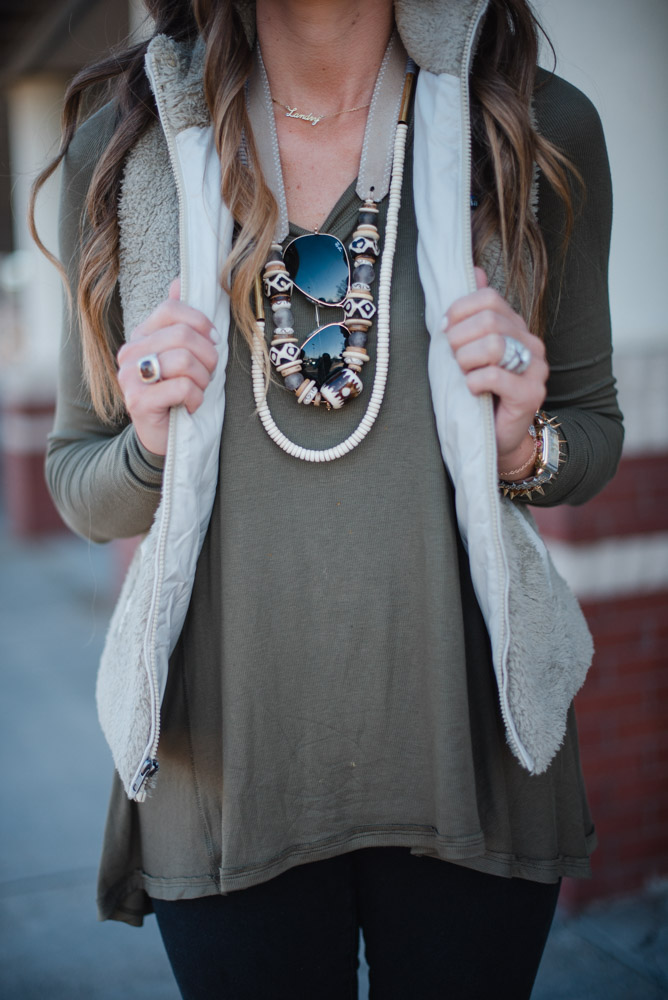 Casual Spring Transition Outfit Idea