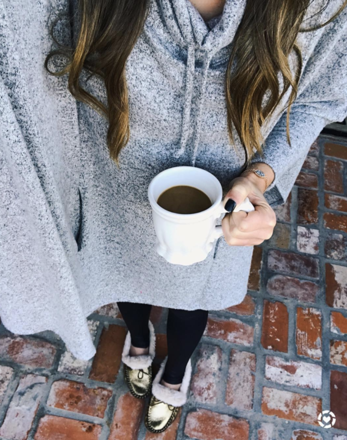 poncho sweater for cozy chic look