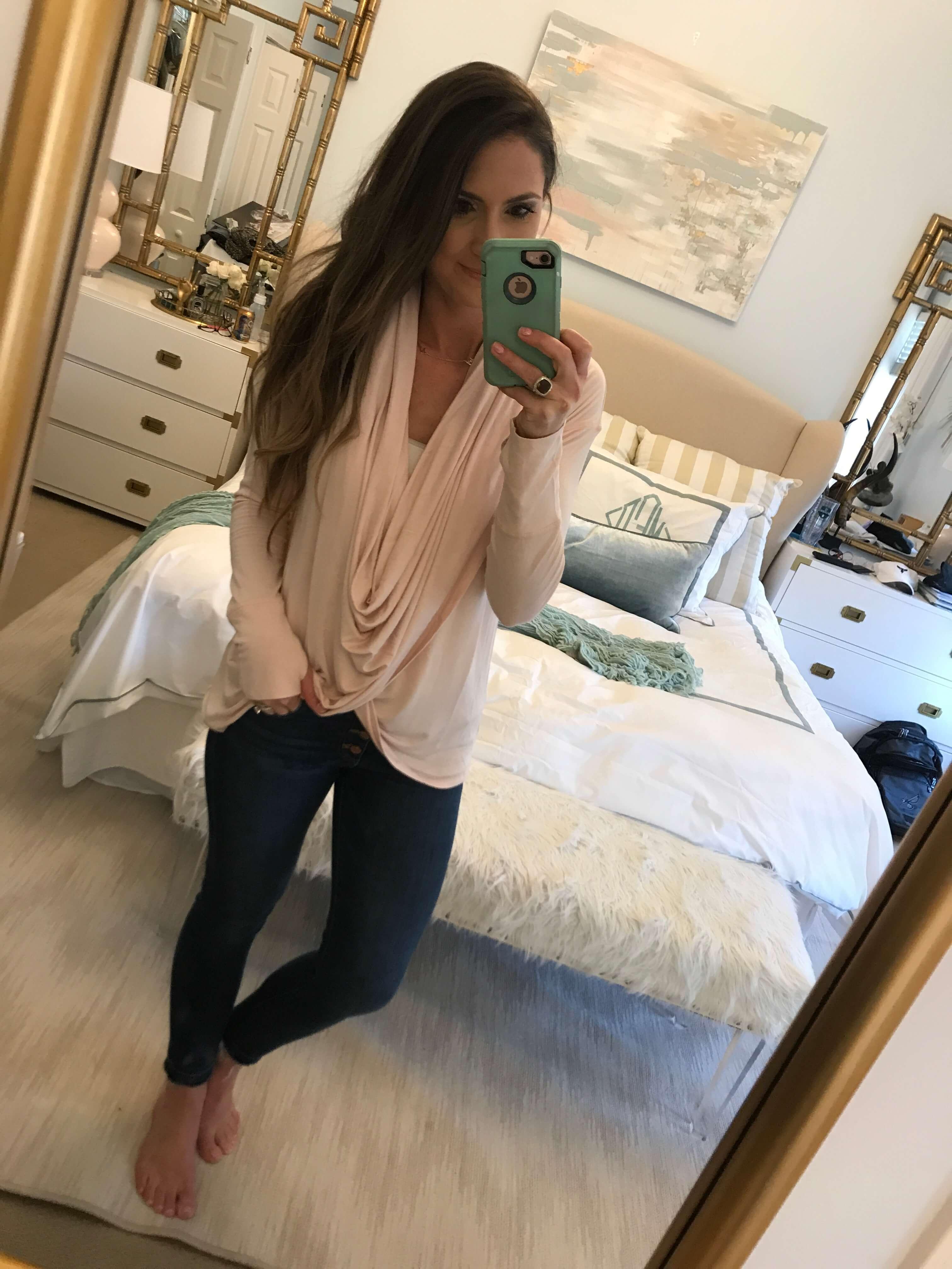 caslon wrap sweater fit review