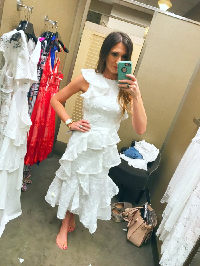 White ruffle dress for Spring and Summer