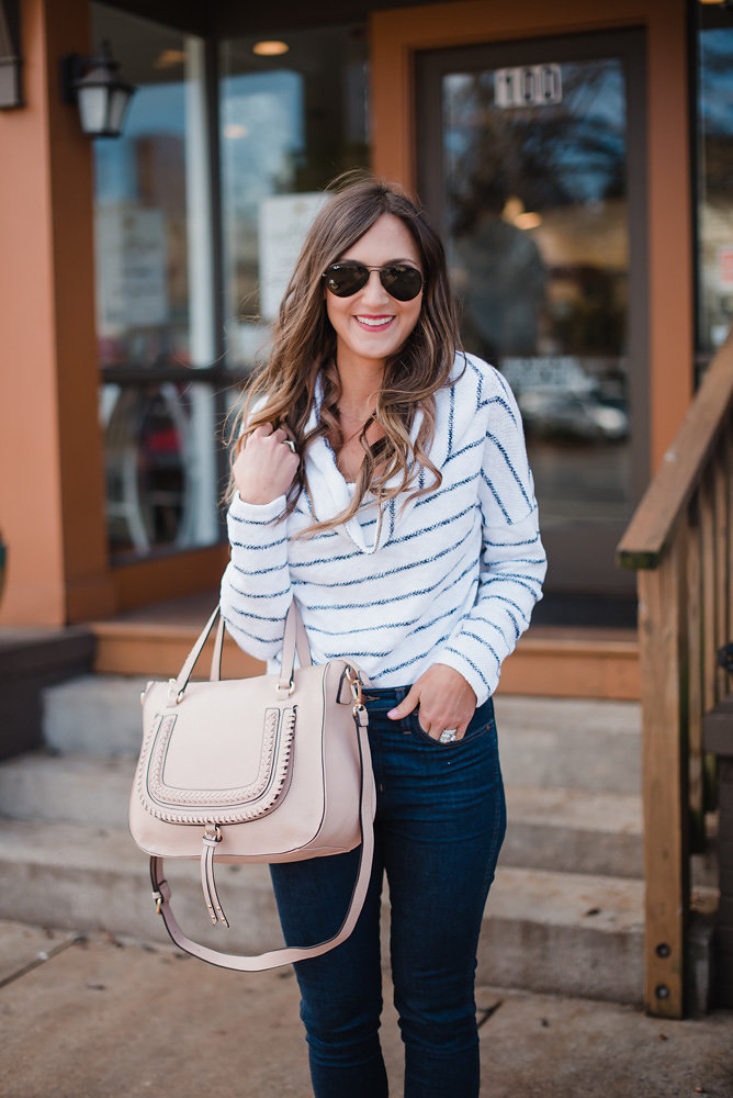 this convertible sweater is great for Spring transition
