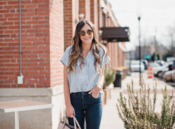 Madewell top worn 5 ways. The perfect top from Spring to Summer!