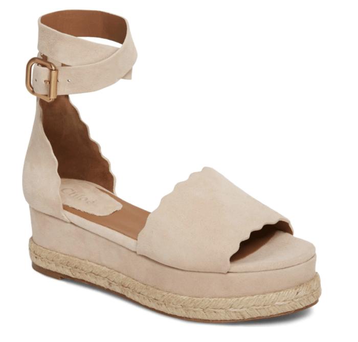 chloe espadrille sandals
