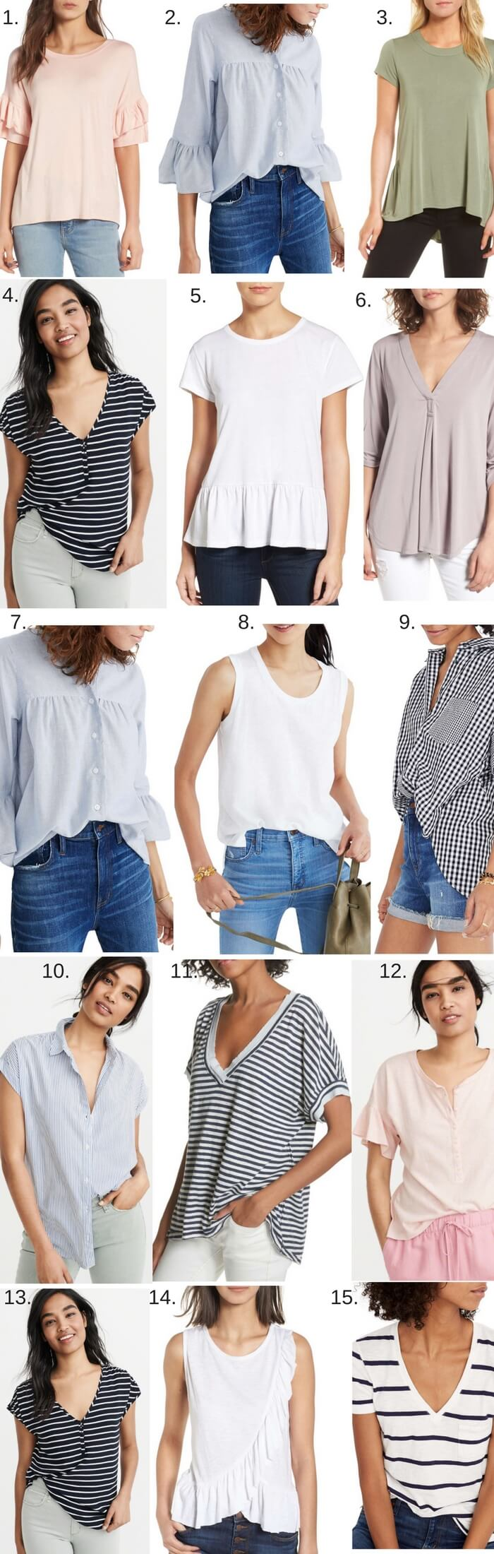 15 casual tops for Spring