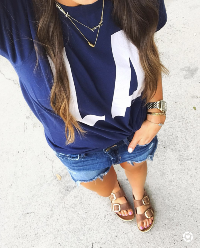 casual outfit | LA TEE | J. Crew Tee