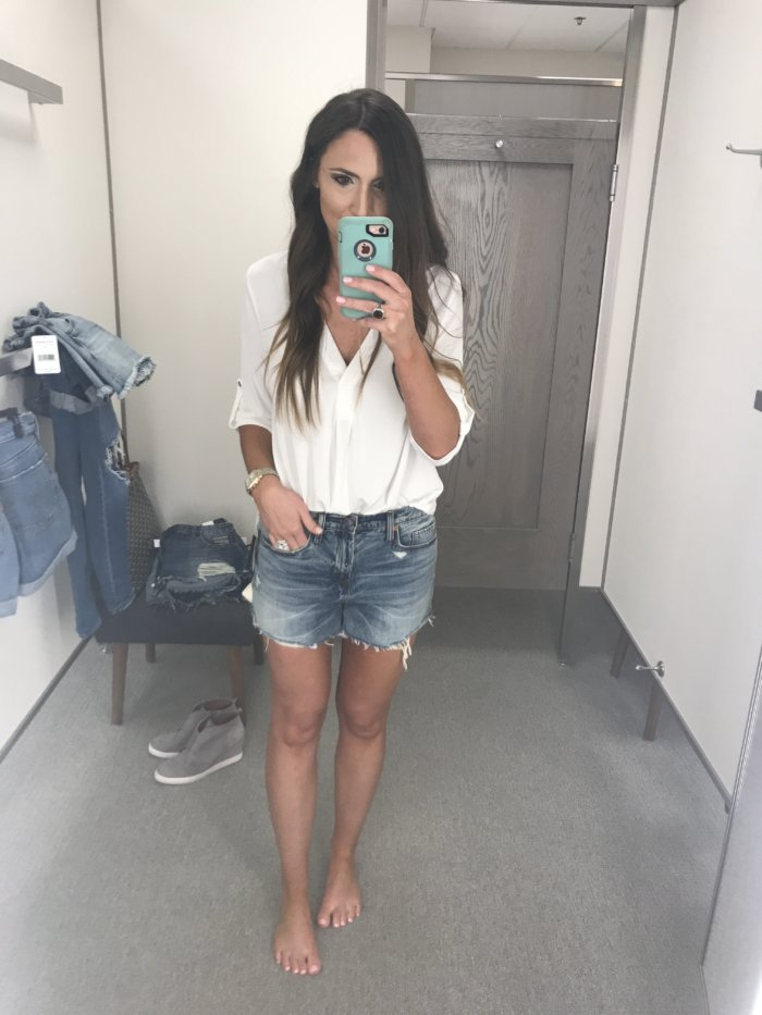 Denim Short Review by a real mom - The Best Denim Shorts featured by Texas fashion blogger, Style Your Senses - 10 Top Purchases for April featured by popular Texas fashion blogger, Style Your Senses