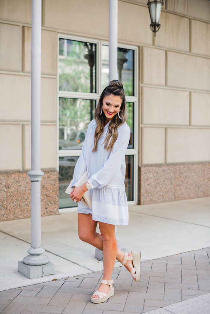 LOFT Dress styled two ways by popular Texas fashion blogger, Style Your Senses