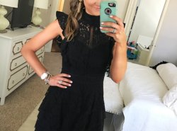 black lace dress from Amazon - Fashion Finds from Amazon by popular Texas fashion blogger, Style Your Senses