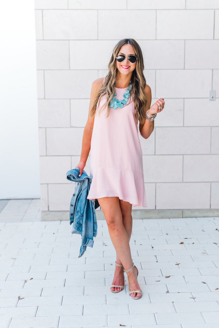 Pink Ruffle Dress Worn Three Ways! featured by popular Texas fashion blogger, Style Your Senses