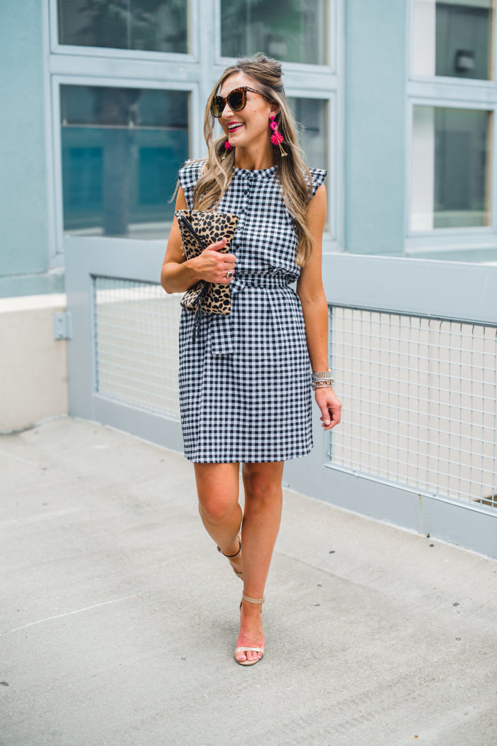 Gingham dress for Summer - Gibson X Hi Sugarplum! at NORDSTROM featured by Texas fashion blogger, Style Your Senses