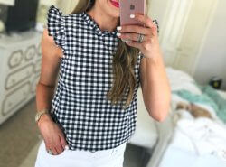 Gingham Top and the best white shorts