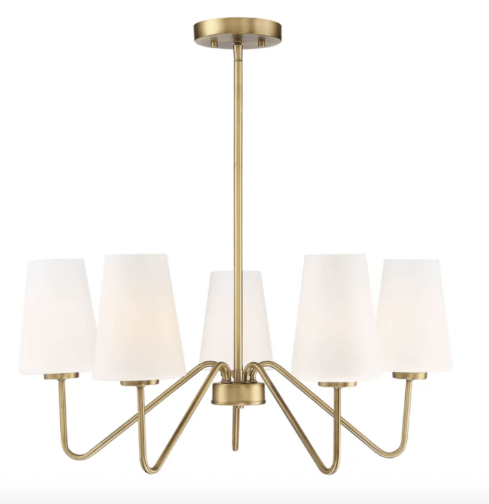 white and gold chandelier