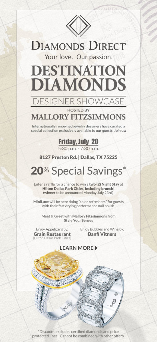 Diamonds Direct Summer Showcase - Summer Designer Showcase with Diamonds Direct featured by popular Texas fashion blogger, Style Your Senses