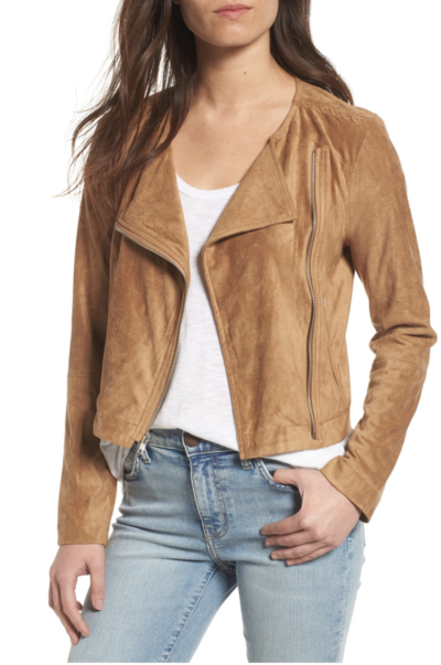 suede bomber jacket for Fall