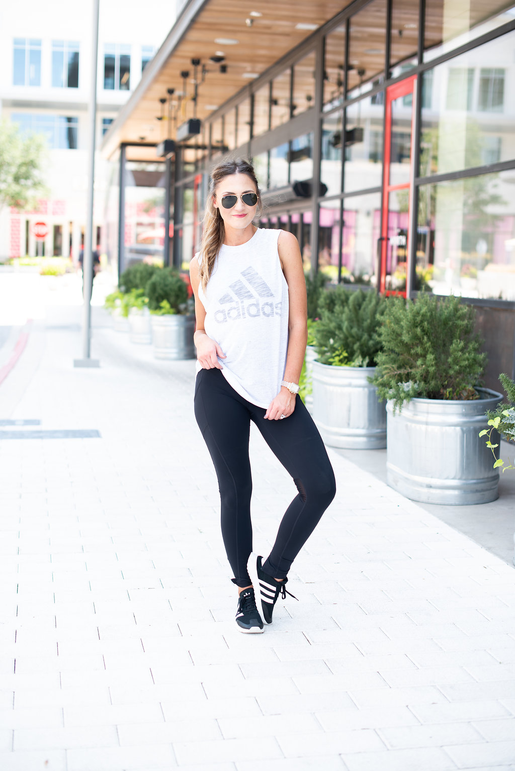 Adidas Workout Wear | how to wear Athleisure | Orange Theory Fitness | featured by popular Dallas life and style blogger Style Your Senses