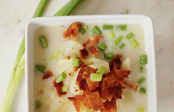 whole30 soup | whole 30 baked potato soup | dairy free soup