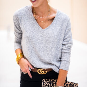Lightweight sweater for Fall styled two ways with Nordstrom