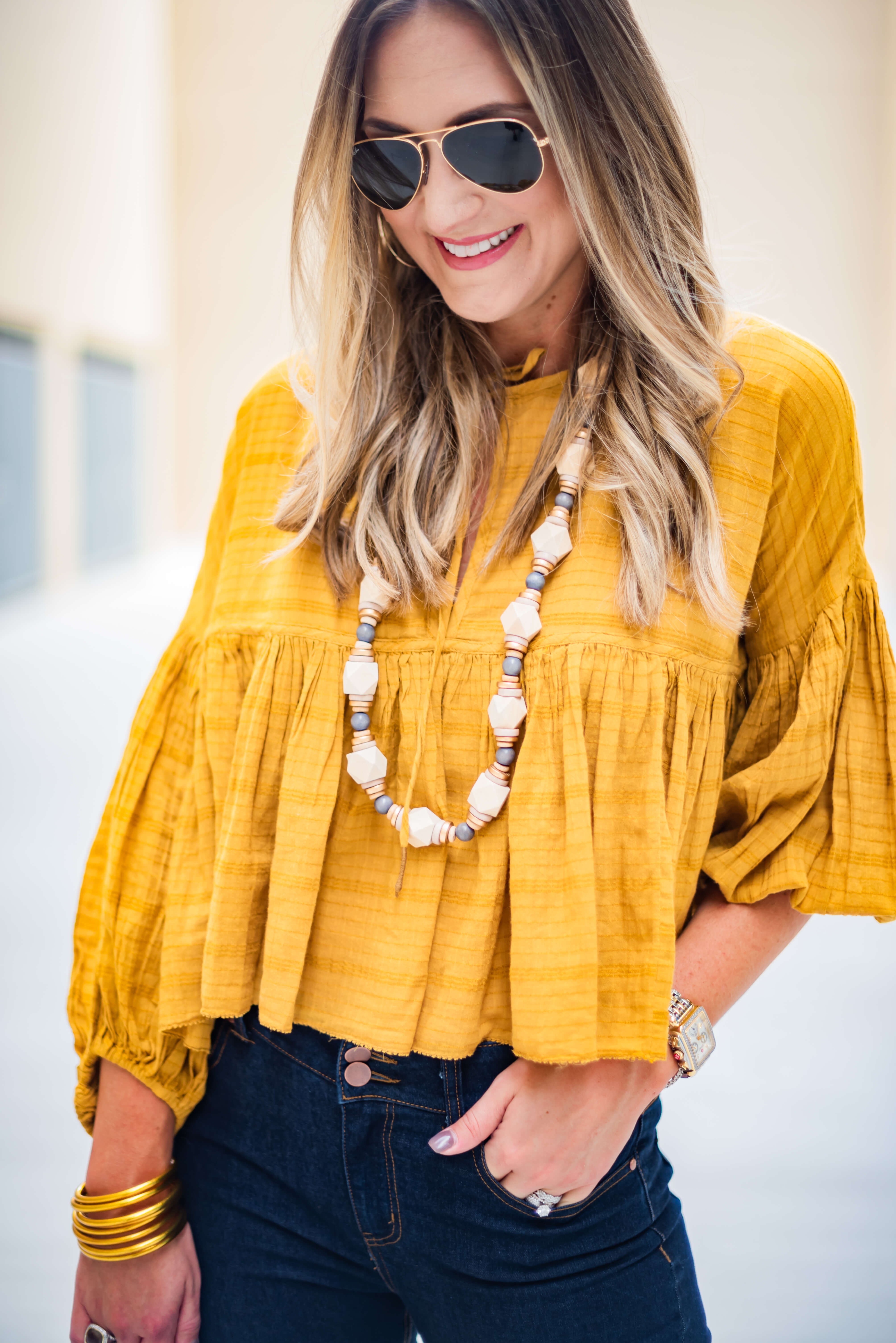 Free People Swing Top with Erin McDermott Jewelry