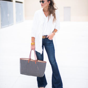 How to Style Denim Flare Jeans featured by popular Dallas fashion blogger Style Your Senses