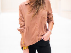 Lightweight sweater for Fall styled two ways with NordstromLightweight swing top in trendy rust color for Fall - The $55 Transitional Swing Top to Buy Now! featured by popular Dallas fashion blogger Style Your Senses