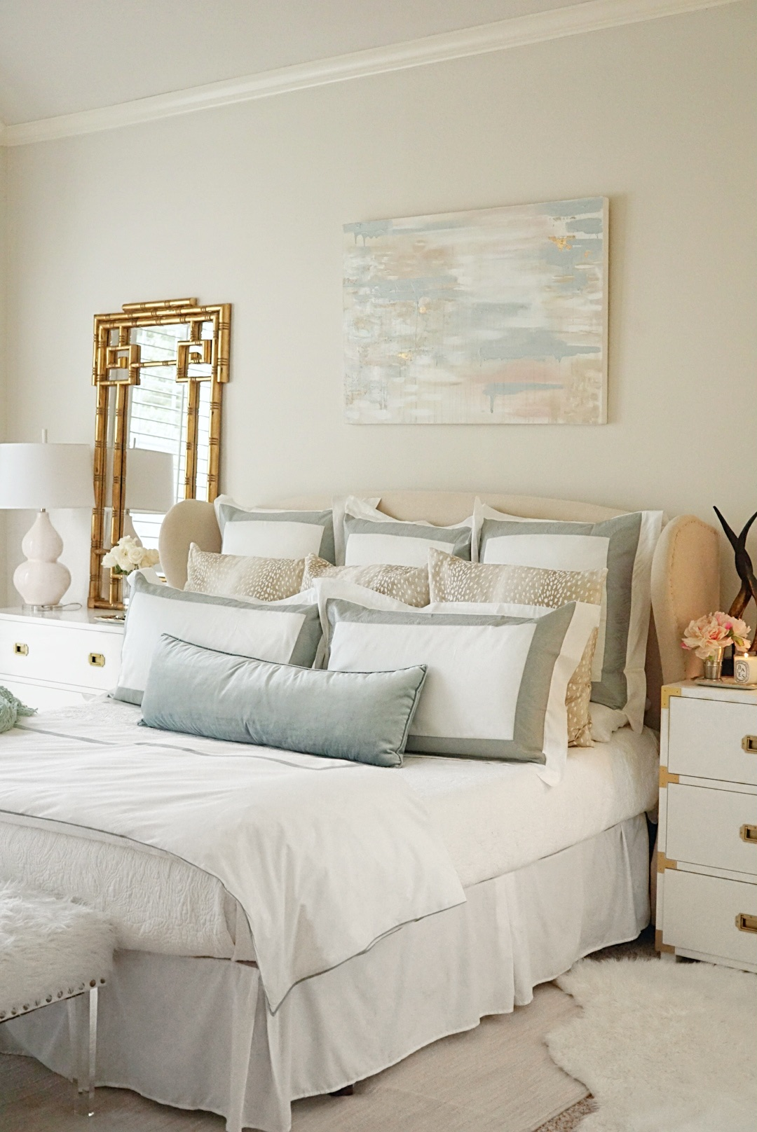 Master Bedroom Upgrades with Frette Bedding featured by top Dallas lifestyle blog Style Your Senses