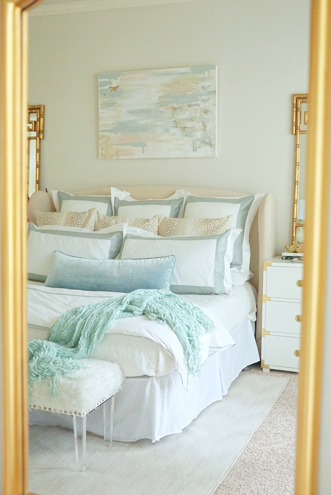 Calming and serene master bedroom   Master Bedroom Upgrades with Frette Bedding featured by top Dallas lifestyle blog Style Your Senses