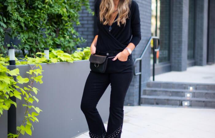 How to Dress Up a Long Sleeve Black Bodysuit | 2 Ways