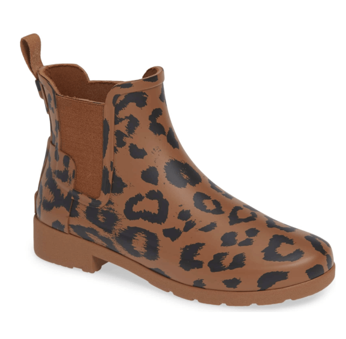 leopard hunter boots