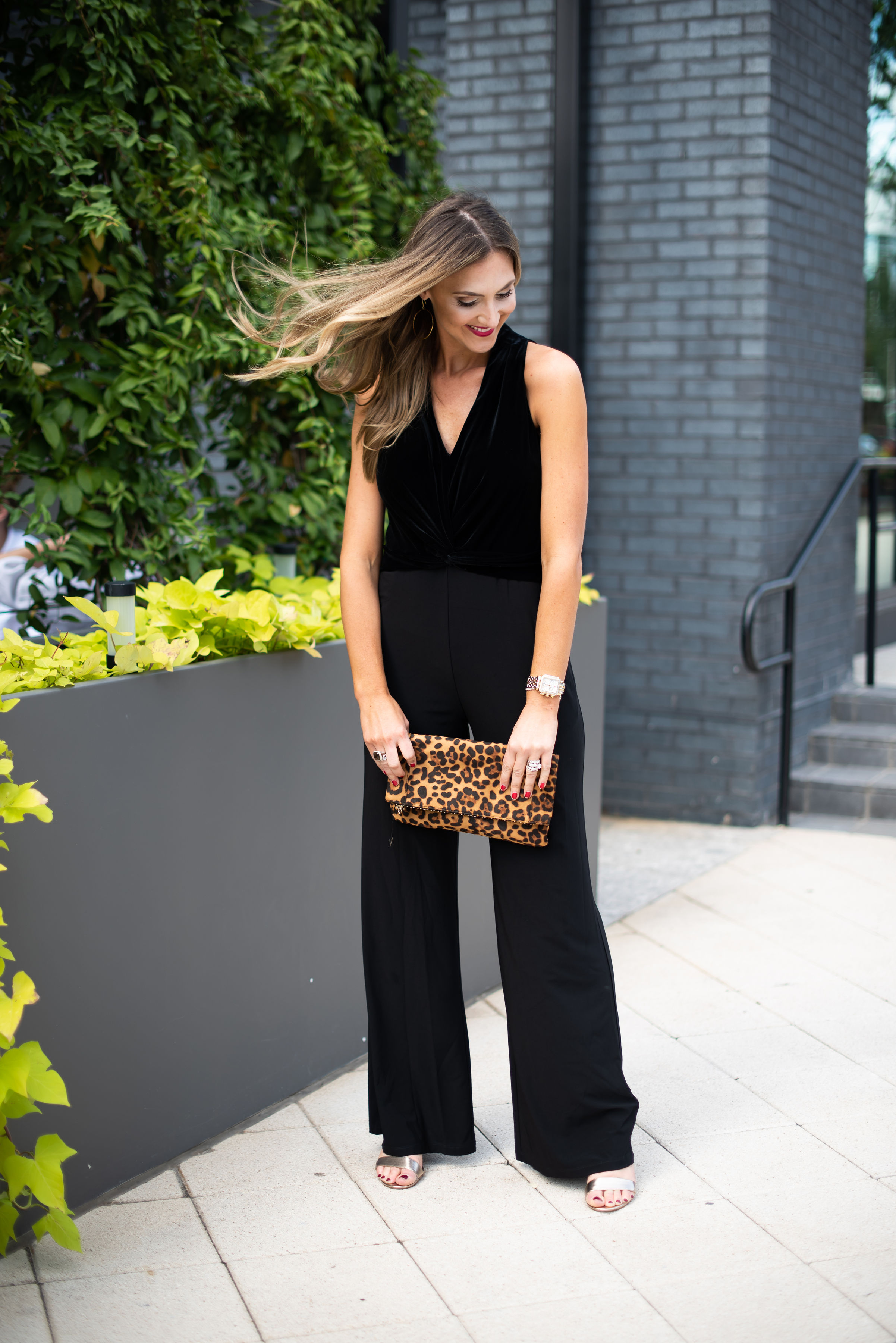 what to wear for a holiday formal | black jumpsuit