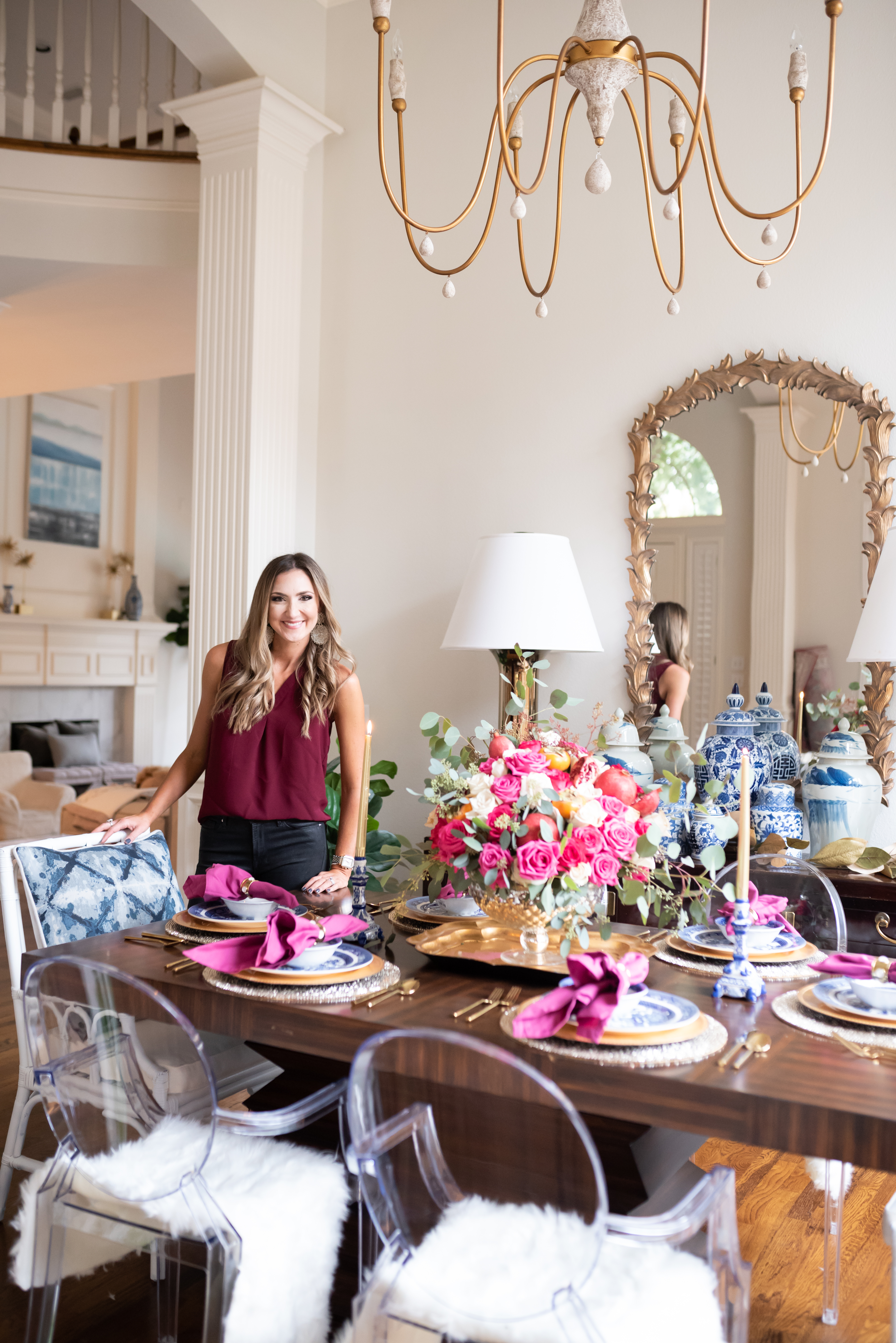 Glam Thanksgiving Tablescape