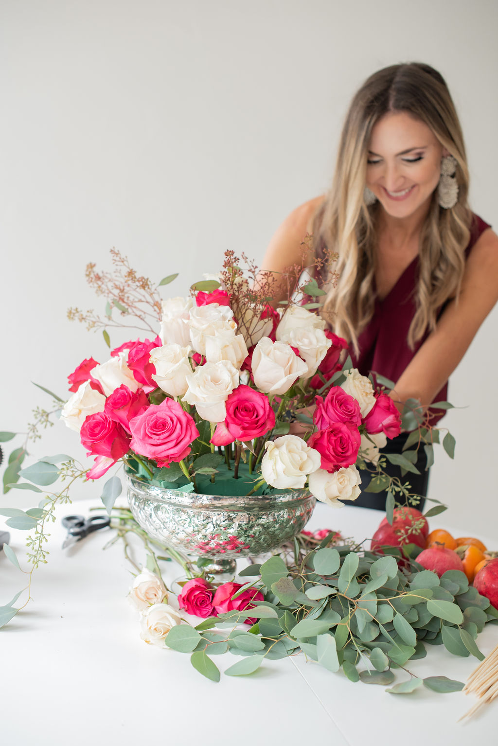 how to make a DIY floral centerpiece