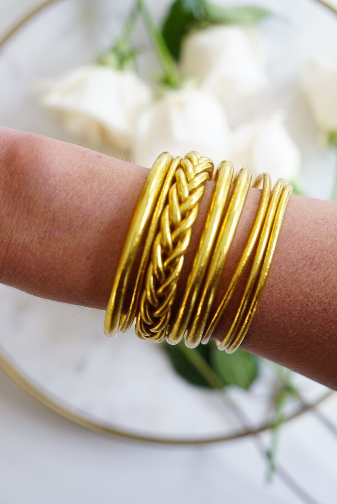 Etsy Finds | Gold All Weather Bangles