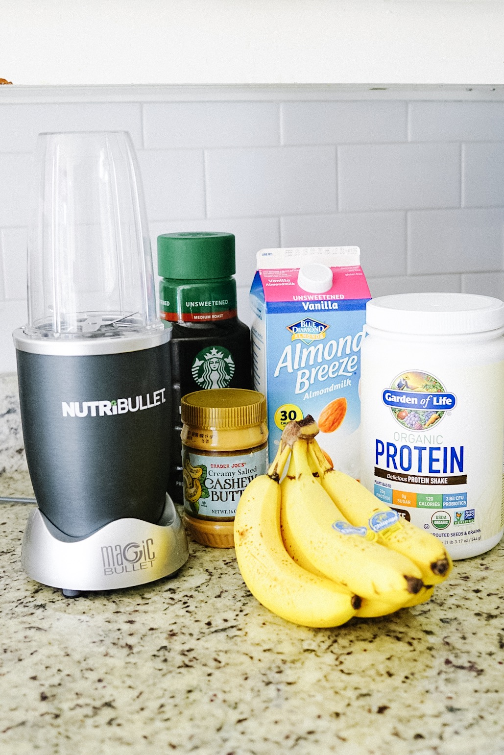 caffeinated chocolate banana protein smoothie