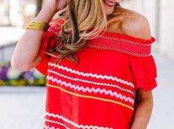 ric rac off the shoulder top | Shop Style Your Senses