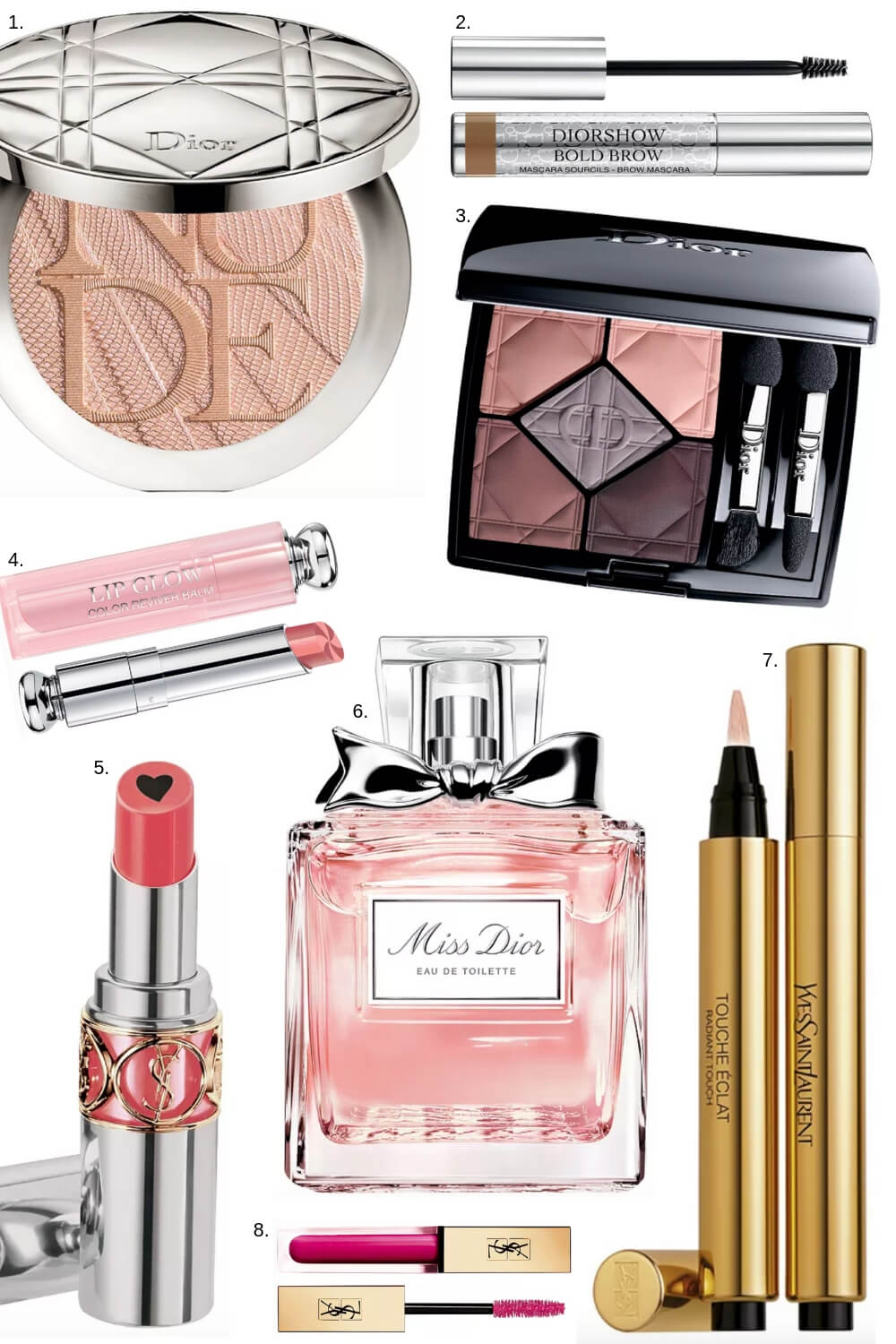 Dior and YSL Makeup for Spring