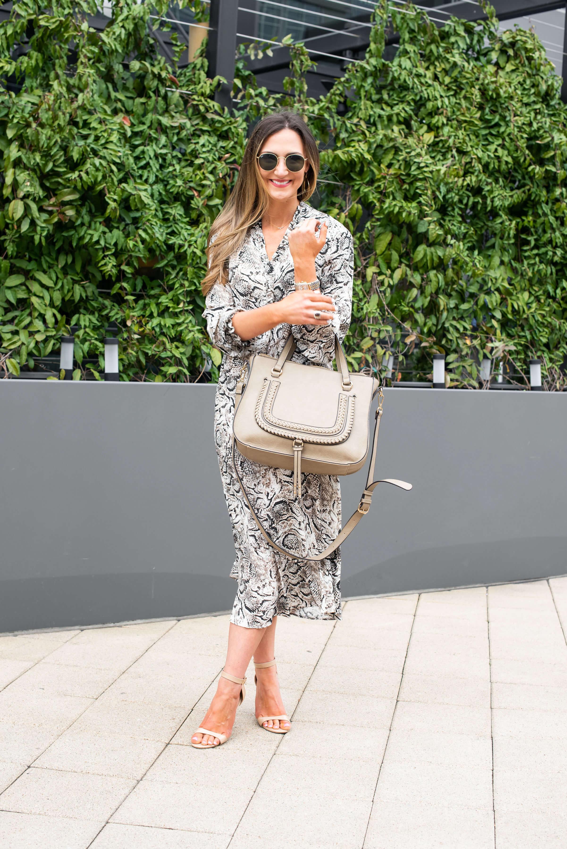 snake skin midi dress from Marks and Spencer | Style Your Senses Blog