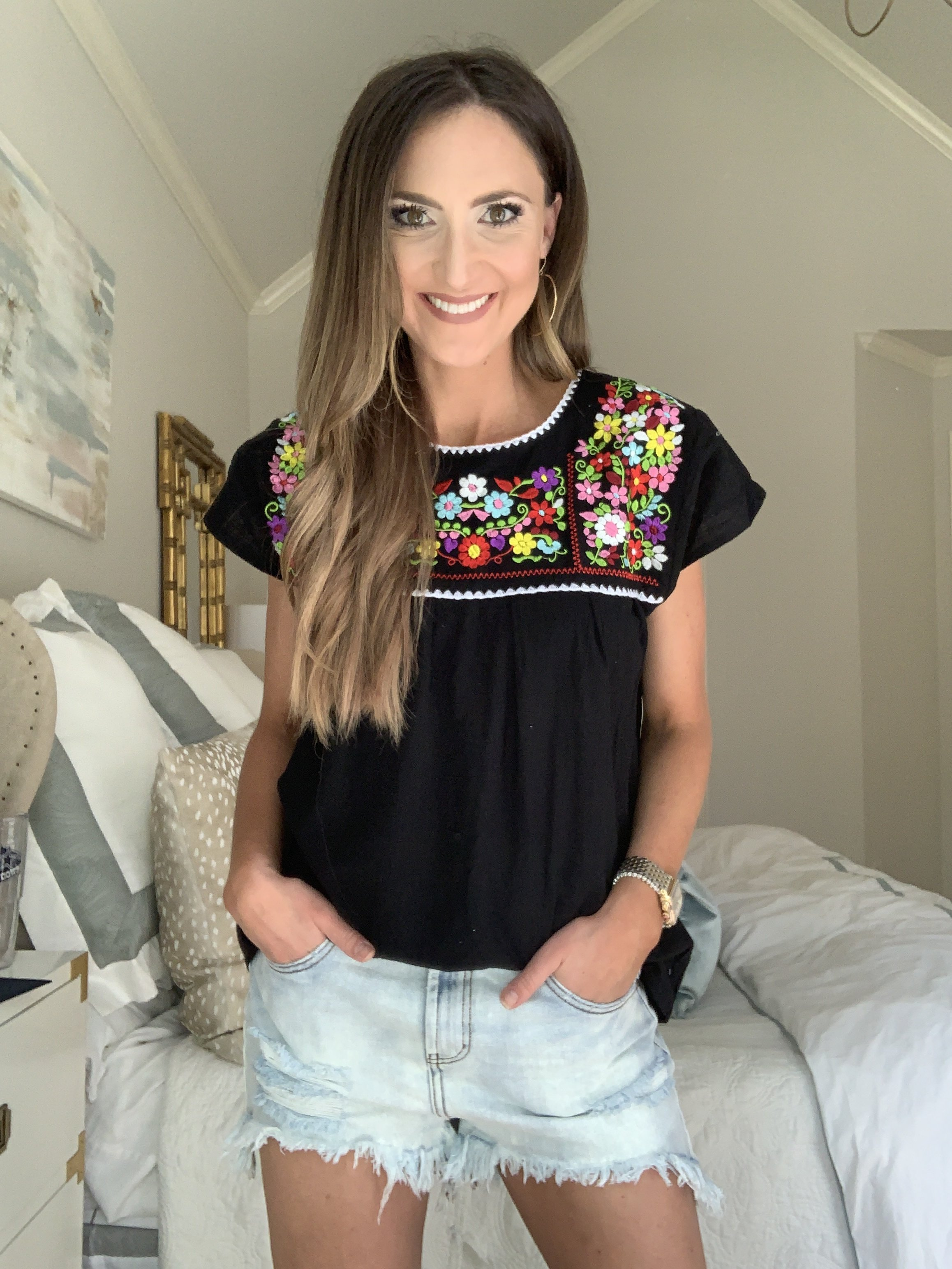 Amazon Fashion Haul Embroidered Top | Style Your Senses