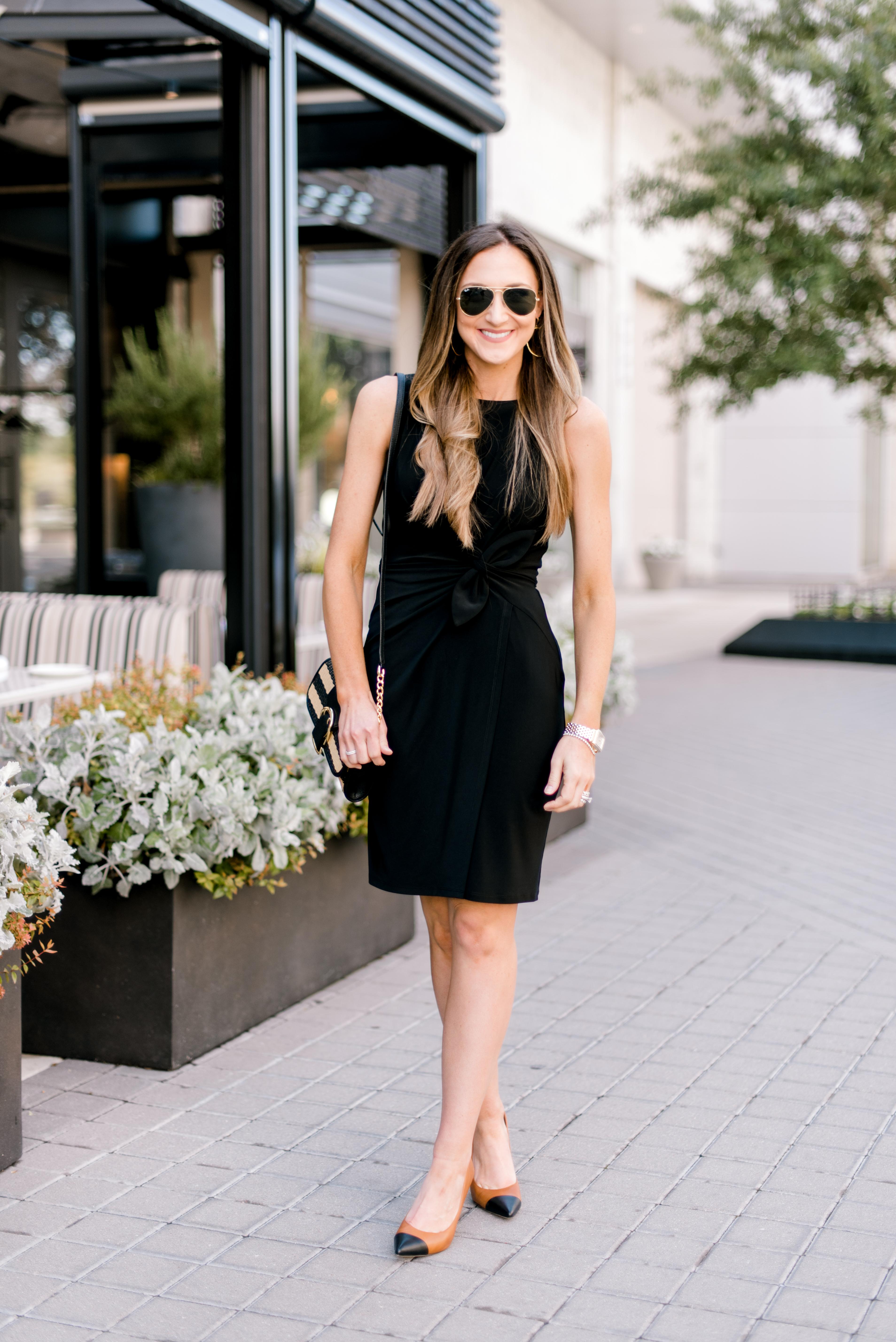 black sleeveless Ralph Lauren Dress | Style Your Senses