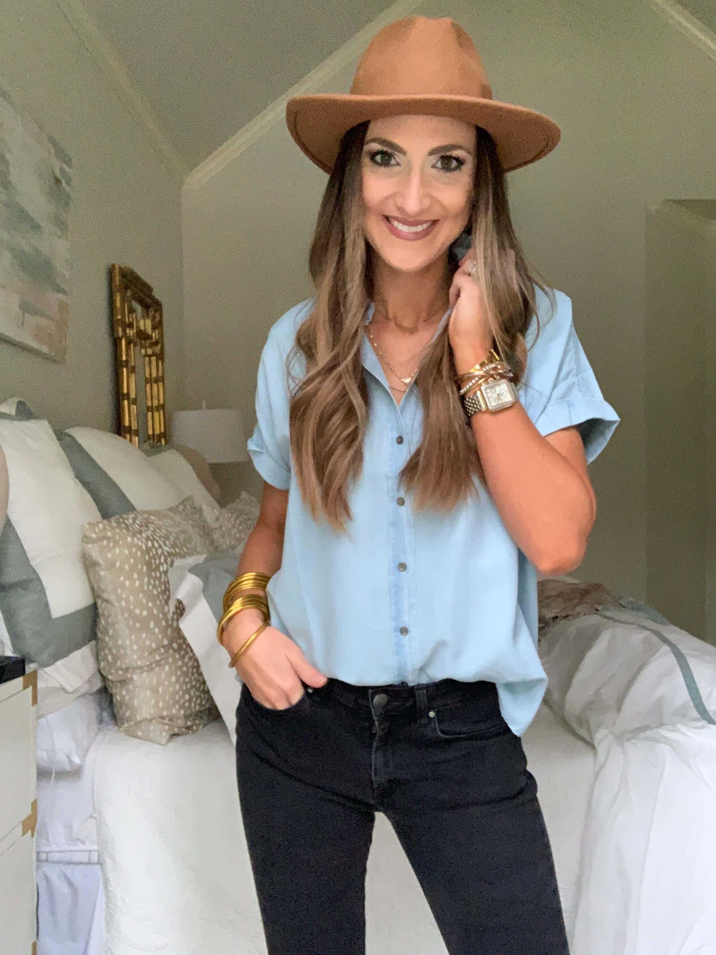 Amazon Fashion Haul | Chambray button up | Style Your Senses