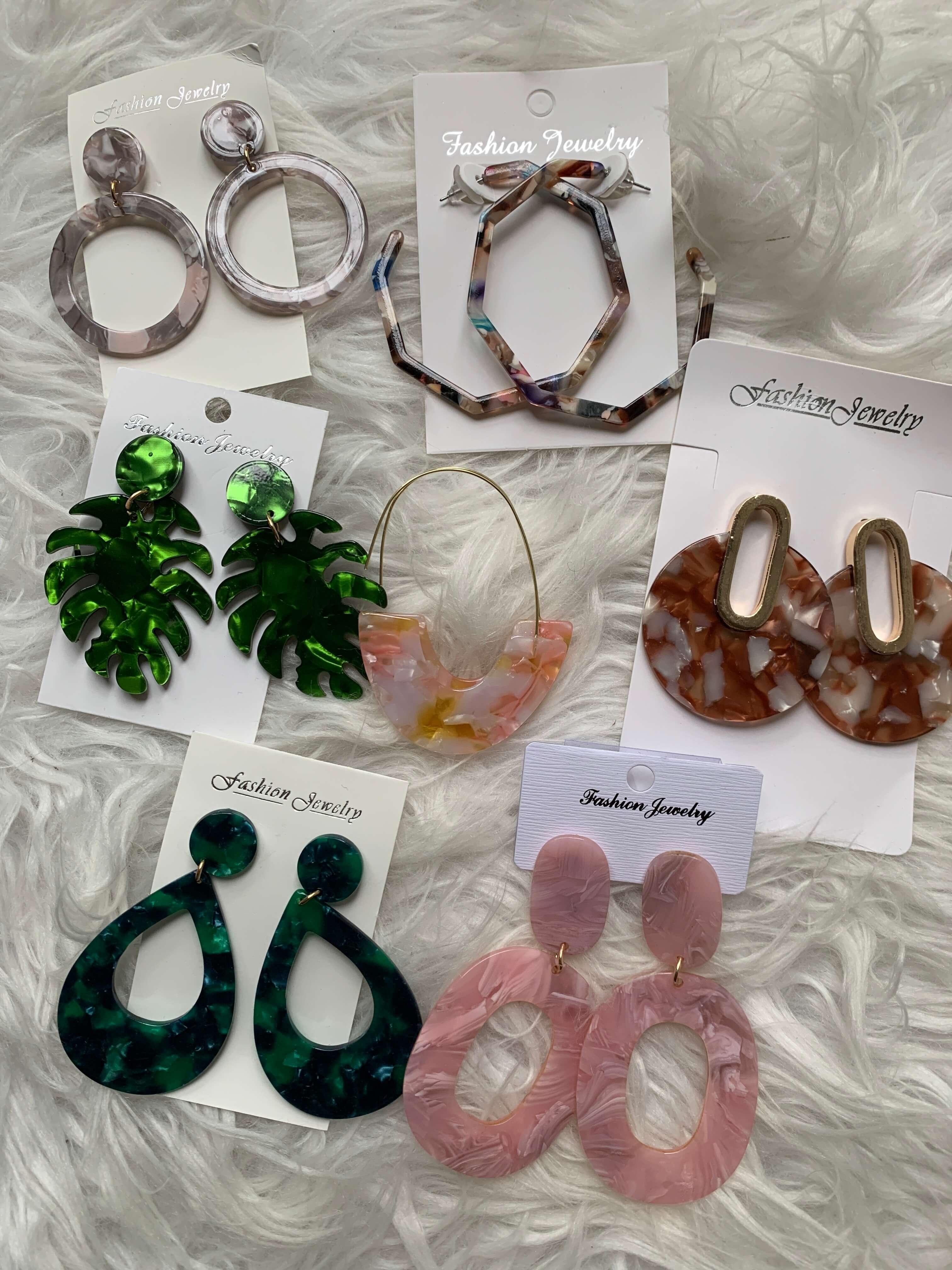 Amazon Fashion Haul | resin earrings | Style Your Senses