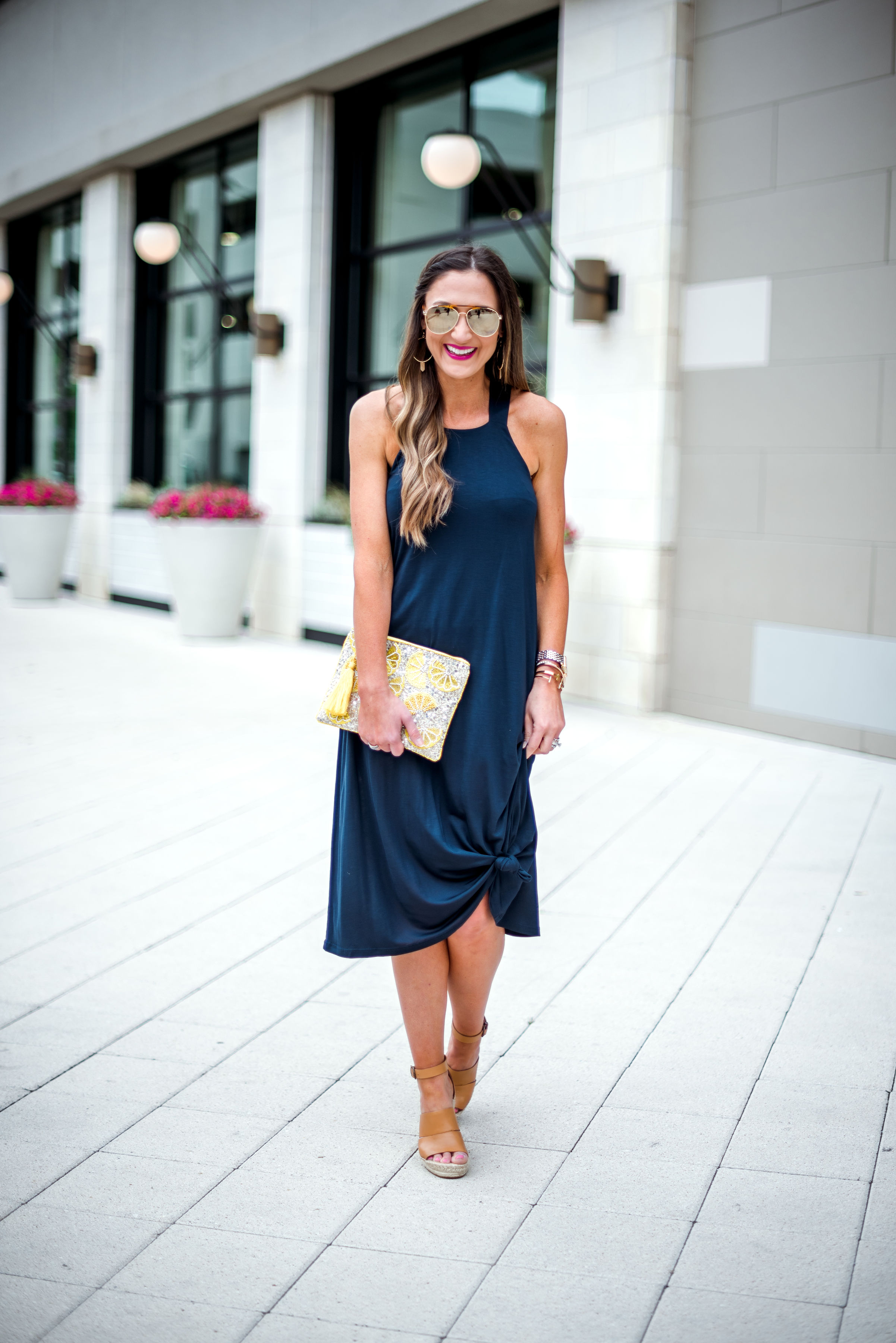 navy blue racerback dress | Marks and Spencer | Style Your Senses