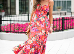 red floral summer maxi dress | Style your senses