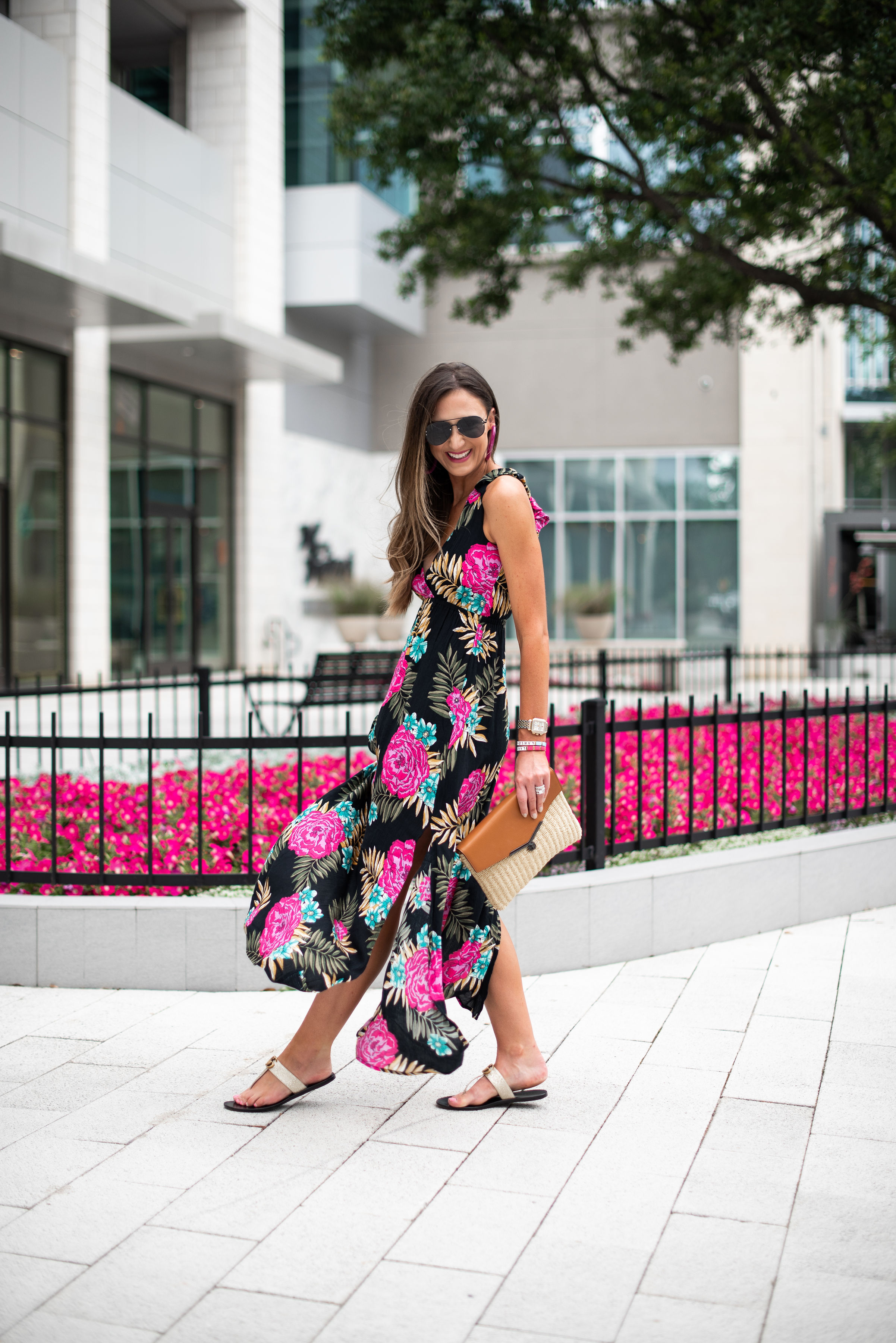 floral summer maxi dress | Style your senses