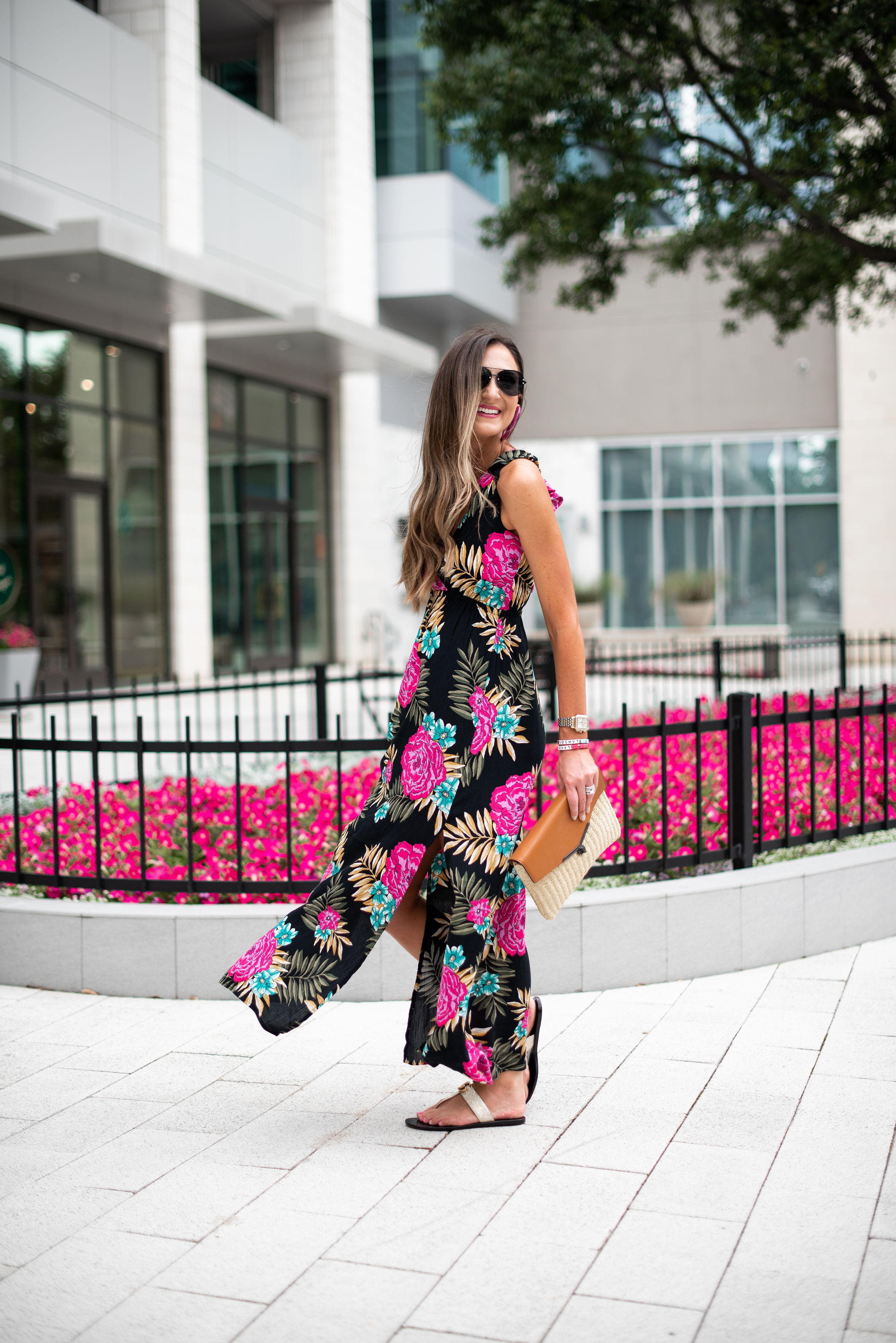floral summer maxi dress   Style your senses