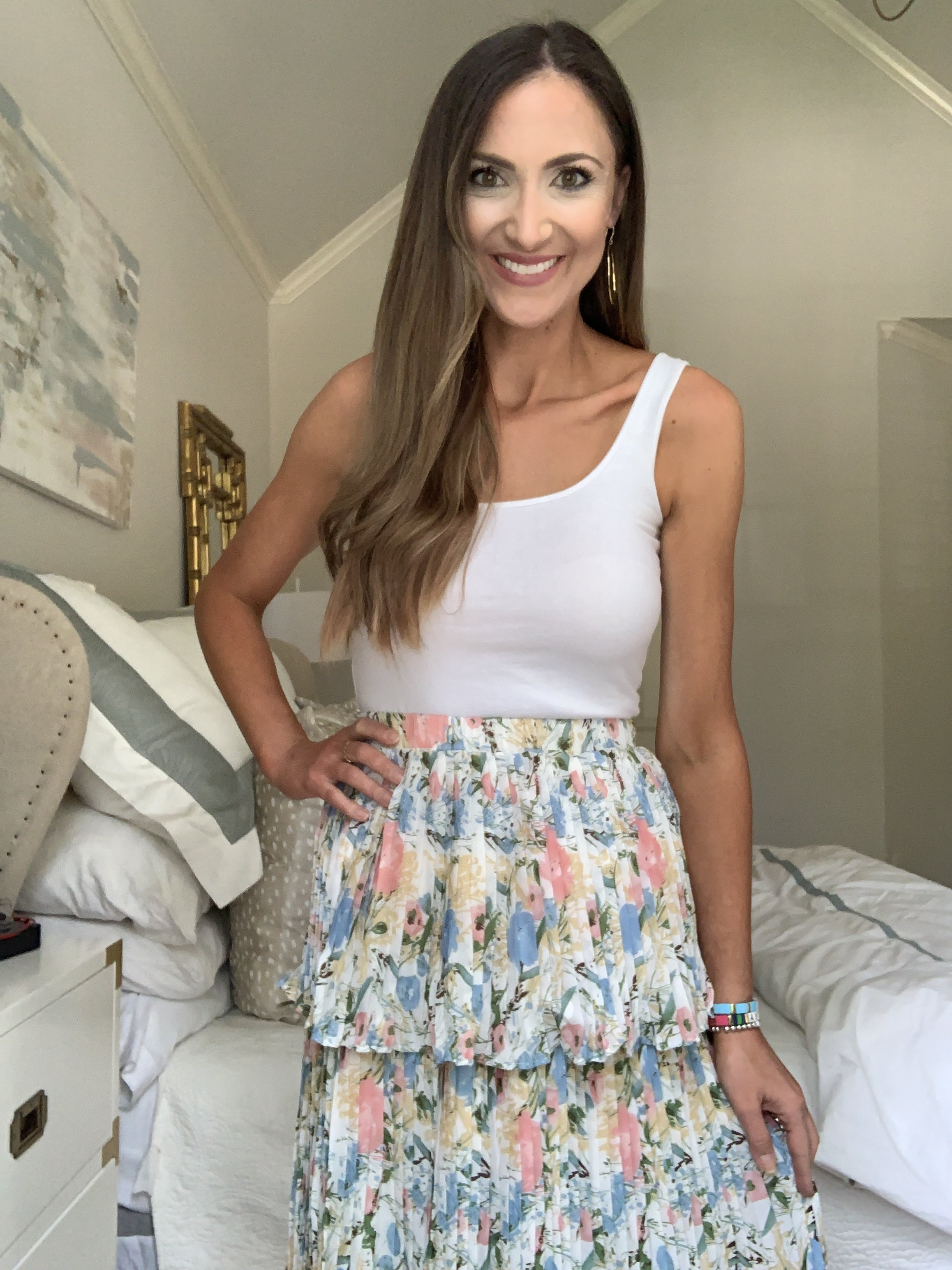 tiered floral skirt from Amazon | Style Your Senses